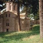 Црква богородице Одигитрије у Мушутишту (Сува Река, КИМ) пре рушења.